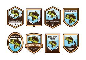 Free Bass Fish Badge Vector