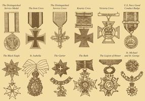 War Medals vector