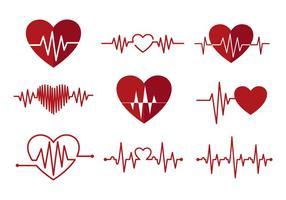 Freie Herz-Monitor-Vektoren