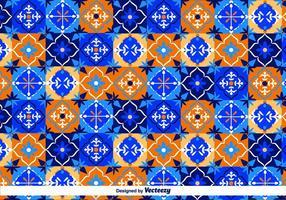 Blå Talavera Vector Mönster