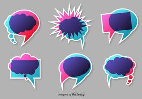 Bulles vectorielles de mots colorés