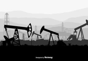 Fondo del vector del campo petrolífero