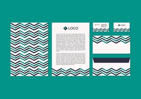 Gratis Chevron Vector Brevpapper Design