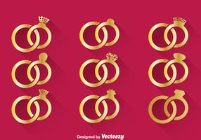 Wedding Gold Ring Vector
