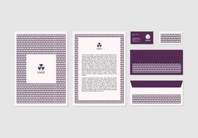 Free Purple Vector Letterhead Design