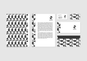Free Black Vector Letterhead Design