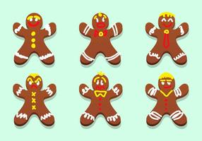 Lebkuchen Gingerbread Personagens Vector