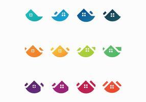 Vetores gratuitos do logotipo dos telhados