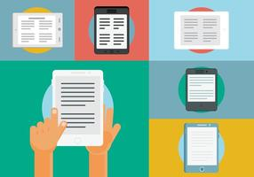 Free Ereader Vektor Illustrationen
