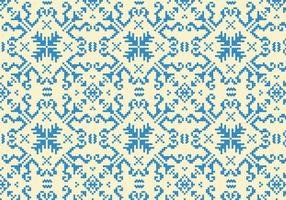 Stitching Blue Pattern vector