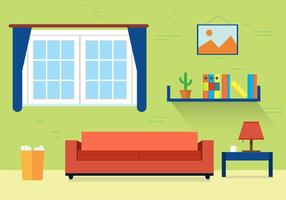 Free Living Room Vector Illustration