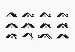 Vecteur libre des toits noirs