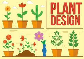Freie Pflanze Vektor-Design