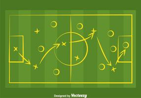 Vecteur de playbook de football