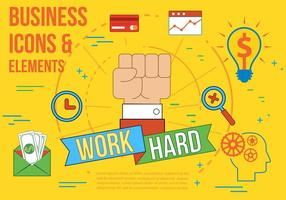 Free Work Hard Vector Illustration
