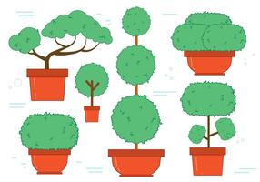Bonsai Tree Vector Set