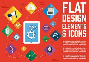Iconos libres del vector del diseño plano