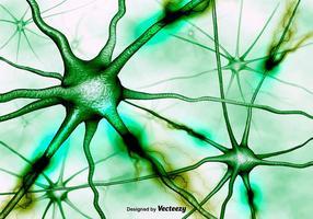 Abstracte Neuronen Achtergrond Vector 3D Achtergrond