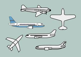 Avion illustrations vectorielles 1