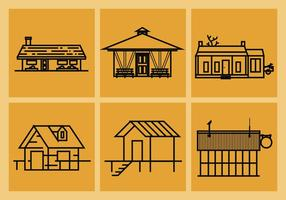 Shack Vector Illustraties