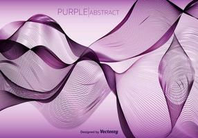 Purple Abstract Vector Wave Background