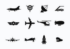 Avión libre y vectores de transporte