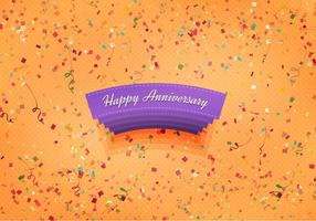 Free Vector Happy Anniversary Background