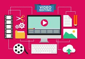 Videoredigering Infographic Vector Template