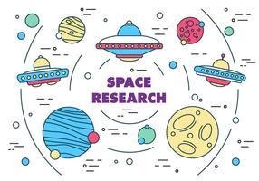 Freier Weltraumforschung Vektor