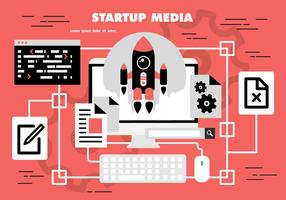Vector de inicio gratuito de medios