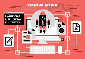 Gratis Startmediavektor