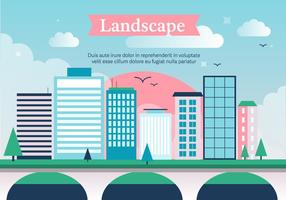 Gratis City Vector Landskap