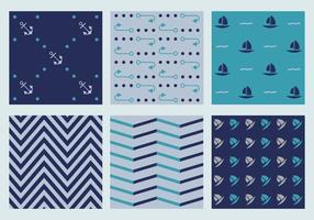 Free Vector Marine Patterns 4