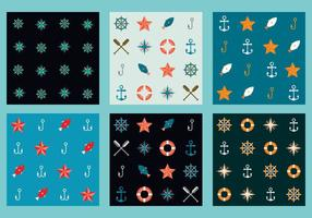 Free Vector Marine Patterns 6