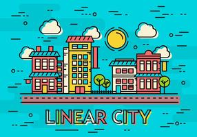 Free Linear City Vector Landscape