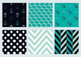 Free Vector Marine Patterns 3