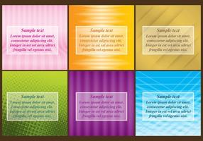 Gradient Templates vector