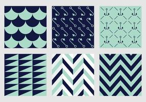 Free Vector Marine Patterns 1