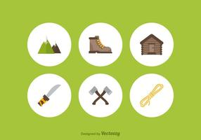 Libre Mountaineer Vector Iconos