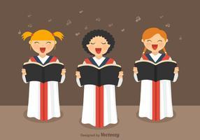 Vecteur chœur de filles gratuit