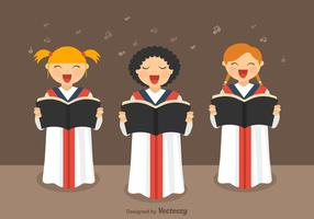 Freie Mädchen Chor Vektor