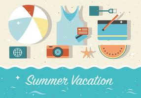 Free Summer Vacation Vector Background