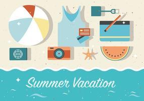 Fondo de vacaciones de verano libre de vectores
