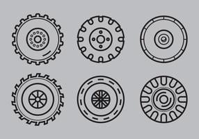 Free Tractor Tire Vector 1