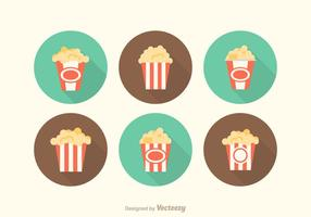 Gratis Vector Popcorn Box Icons