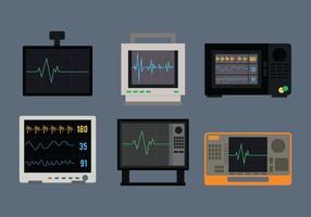 Vecteur moniteur cardiaque