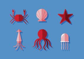 squid free vector art 6 018 free downloads https www vecteezy com vector art 114315 vector ocean animals