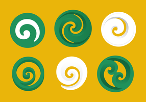 Koru Vector Pictogrammen
