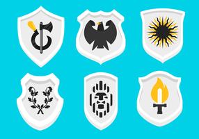 Wappen sköld form vektorer