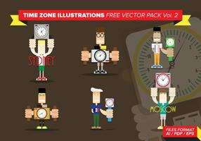 Zeitzone Illustrationen Free Vector Pack Vol. 2